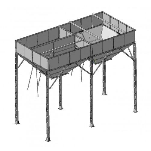 Бункер ЗАВ-20 с перегородкой