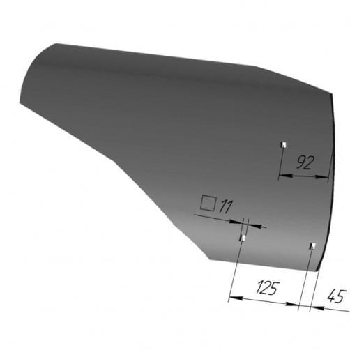 Крыло отвала ПЛЕ-21411