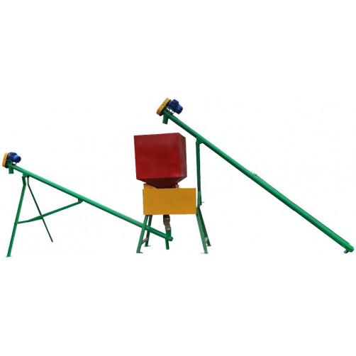 Плющилка СМП-2 с транспортерами и бункером